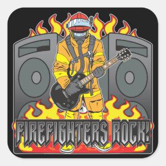 Firefighters Rock Guitar Stickers