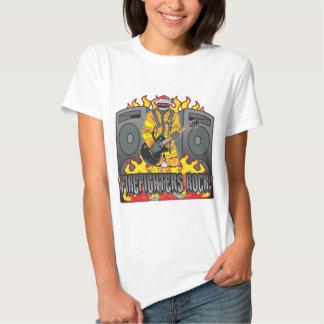 Firefighters Rock Guitar T-Shirt