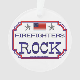 Firefighters Rock Ornament