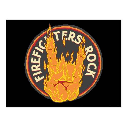 Firefighters Rock! Postcard