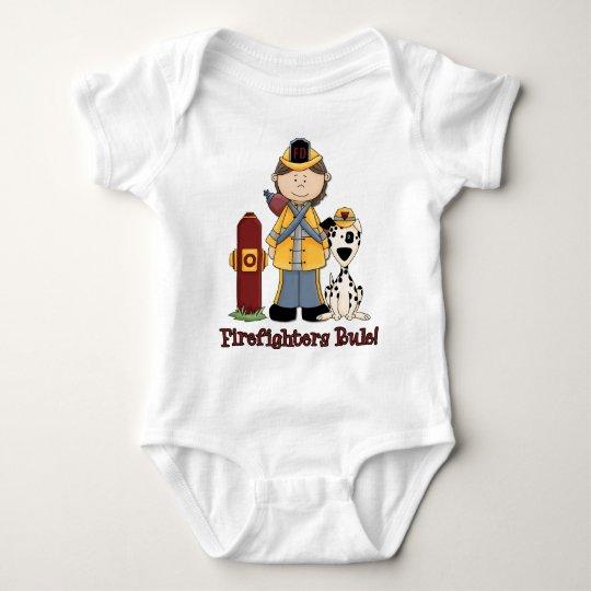 Firefighters Rule Girl Baby Bodysuit