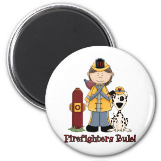 Firefighters Rule Girl 2 Inch Round Magnet