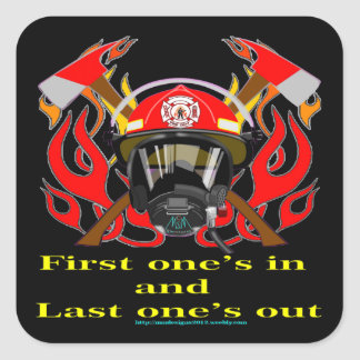 Firefighters Square Sticker