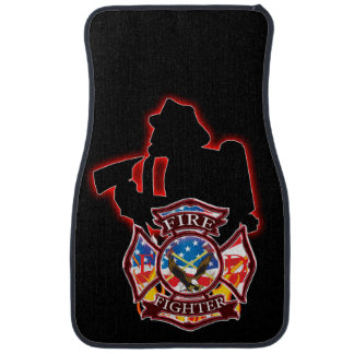 FireFighter's take on the fire head on. Car Mat
