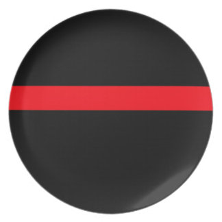 Firefighter's Thin Red Line Dinner Plate