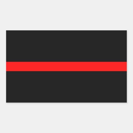 Firefighters Thin Red Line Rectangular Sticker