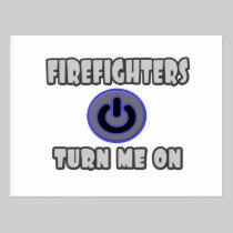 Firefighters Turn Me On Postcard