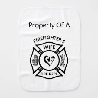 Firefighters Wife Baby Baby Burp Cloth