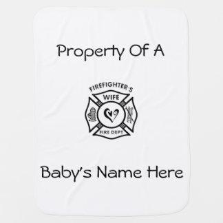 Firefighters Wife Baby Stroller Blanket