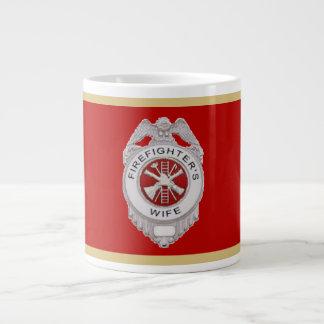 Firefighter's Wife Badge Extra Large Mug