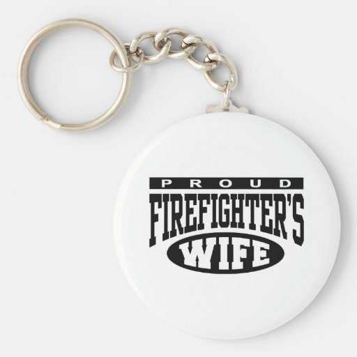 Firefighter's Wife Basic Round Button Keychain