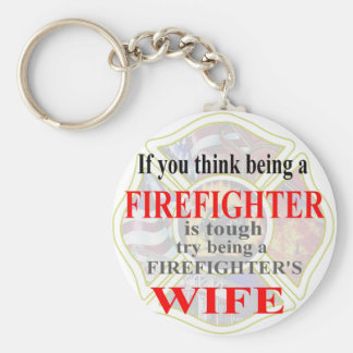 FIREFIGHTERS WIFE- BASIC ROUND BUTTON KEYCHAIN