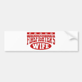 Firefighter's Wife Bumper Stickers