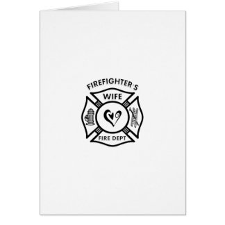 Firefighters Wife Stationery Note Card