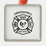 Firefighter's Wife Christmas Tree Ornaments