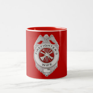 Firefighter's Wife Custom Two-Tone Coffee Mug