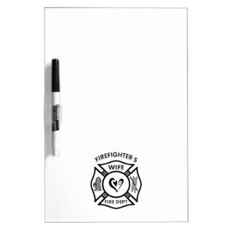 Firefighters Wife Dry Erase Board