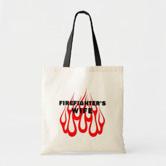 Firefighter's Wife Flames Budget Tote Bag