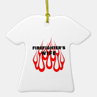 Firefighter's Wife Flames Christmas Tree Ornament