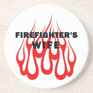 Firefighter's Wife Flames Coaster