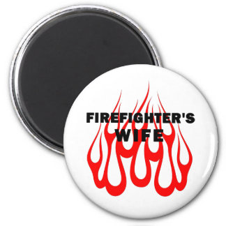 Firefighter's Wife Flames Magnet