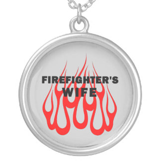 Firefighter's Wife Flames Necklace