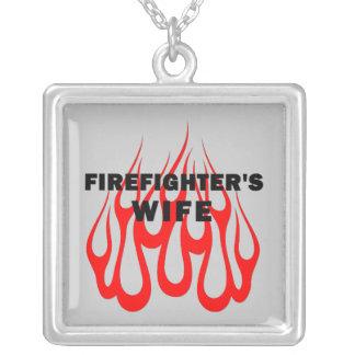 Firefighter's Wife Flames Pendants