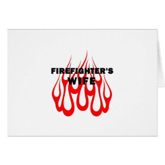 Firefighter's Wife Flames Stationery Note Card