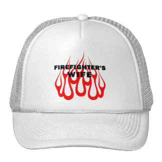 Firefighter's Wife Flames Trucker Hat