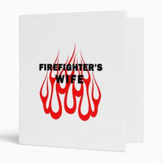 Firefighter's Wife Flames Vinyl Binders