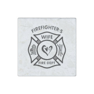 Firefighters Wife Stone Magnet