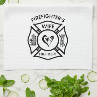 Firefighters Wife Hand Towel