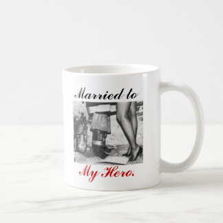 Firefighters_Wife, heart, boots, Married to, My... Coffee Mugs
