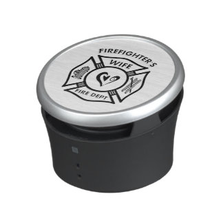 Firefighters Wife Heart Bluetooth Speaker