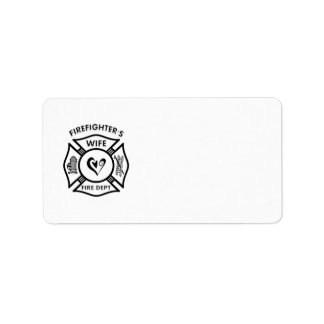 Firefighter's Wife Label