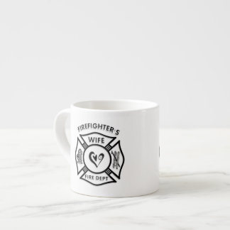 Firefighters Wife Maltese Heart Espresso Cup