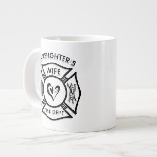 Firefighters Wife Maltese Heart Extra Large Mugs