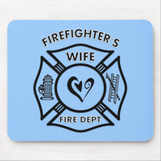 Firefighter's Wife Mousepad - Customized
