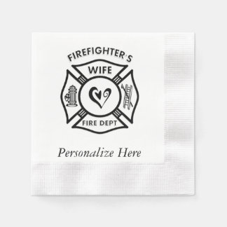 Firefighters Wife Paper Napkin