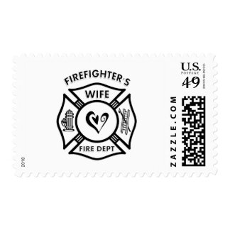 Firefighters Wife Postage Stamp