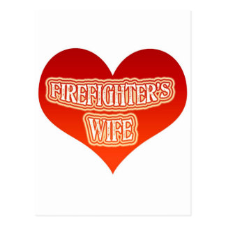 Firefighter's Wife Postcard
