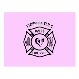 Firefighters Wife Postcard