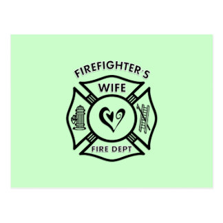 Firefighters Wife Postcard