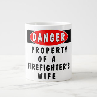 Firefighters Wife Property Large Coffee Mug