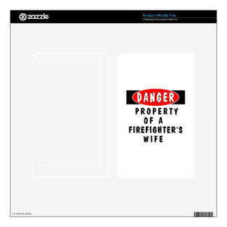 Firefighters Wife Property Skin For Kindle Fire
