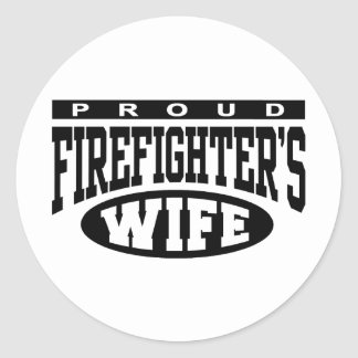Firefighter's Wife Round Stickers