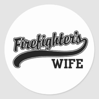 Firefighter's Wife Classic Round Sticker