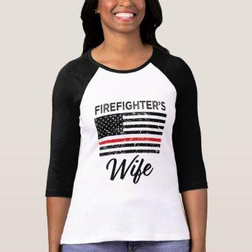 Beach Themed Firefighter's Wife thin Red line women's shirt