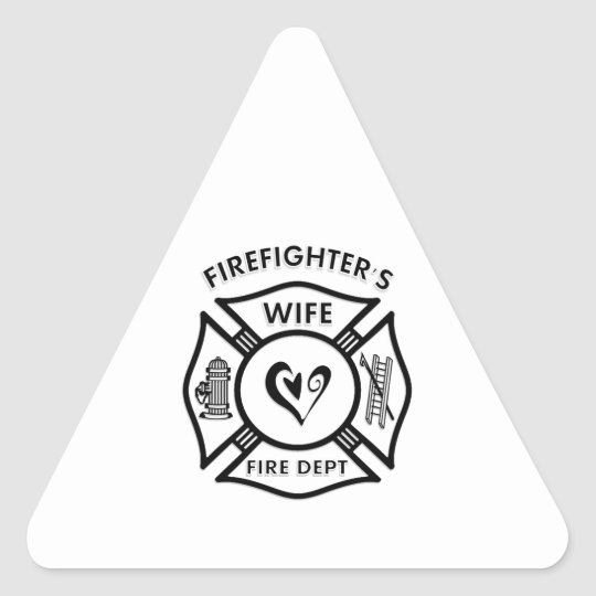 Firefighters Wife Triangle Sticker