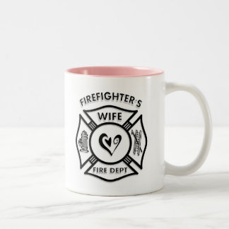 Firefighters Wife Two-Tone Coffee Mug